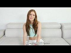 MyVeryFirstTime - Perky RedHead Olivia Lee exci...