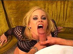 Alicia Rhodes sucks cock and swallows cum