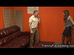 Tranny Dominates Straight Guy And Makes Him Suck