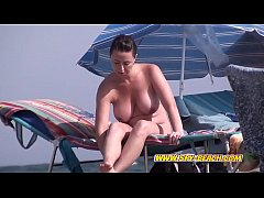 Two Nudist Beach Females Voyeur Amateur Spy Video
