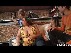 Chubby party girl gets naked and gives head