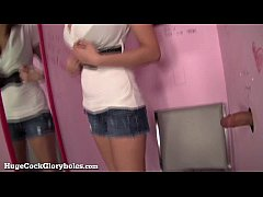 Busty Babe Sucks Dick In Public Fitting Room!