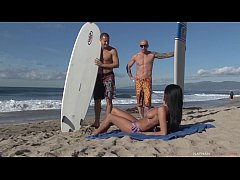 Horny French Busty Beachgoer Anissa Kate DPed a...