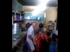Srilankan chacha fucking his maid in kitchen qu...