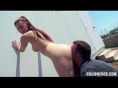 Hot Redhead Nude in Public
