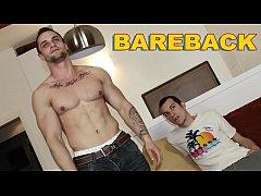 GAYWIRE - Franc Zambo Takes Caleb Moreton's Bareback Big Cock