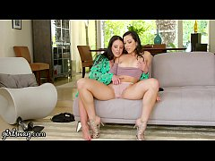 GIRLSWAY Therapist Angela White Scissors with S...