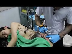 Body painting 69 - Tattoo process GIRL http:\/\/t...
