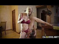 Alexis Fawx on her knees sucking Tyler Nixons b...