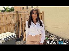 PropertySex - Agent with big tits fucks handyma...