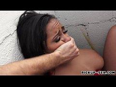 Busty amateur babe Priya Price gets pussy raile...