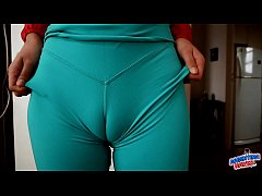 Incredible Ass and Cameltoe Teen Gaping Pussy.