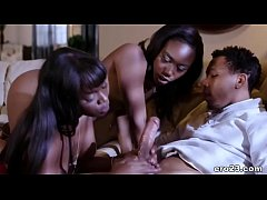 Passionate threesome with black BFFs - Ana Foxx...