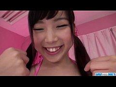 Brunette teen Sayaka Takahashi amazing POV scenes