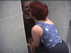 thumb russian mom and  son in bathroom m m m