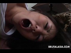 Busty Asian bimbo gets ass fucked by the stud