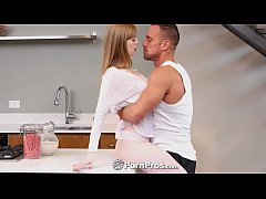 PORNPROS Pale teen Dolly Leigh white couch crea...