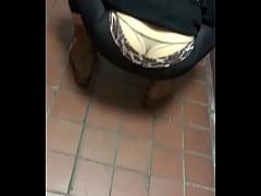 Transparent sheer see thru tights in thong