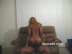 Ebony Milf Dick Riding In Living Room