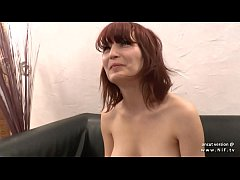 Pretty nice titted young amateur french redhead babe analyzed with cum to mouth