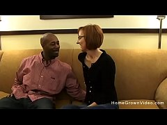 Tiny redhead mature gets fucked by a big black ...