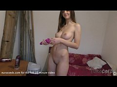 sweet teen rebeka corn dildo dp with bunny tail...