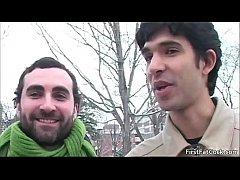 Horny threesome gay porn video clip gay video
