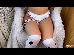 Babe in Cow Costume Facefuck and Doggystyle - C...