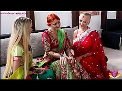 Pre-wedding Indian bride ceremony