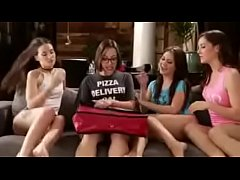 SORORITY-SISTERS EAT OUT THE PIZZA DELIVERY GIRL - Part 2 at GoodGreatPorn.com