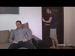 Poor boyfriend lets wacky friend to fuck his gf for money