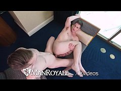ManRoyale Gay Pride Ass Pounding With Two Muscl...