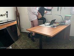 in lunch break: sexy business woman fucked in h...