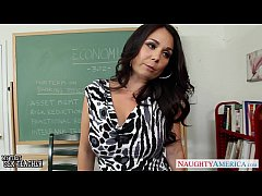 Busty teacher Holly West fuck in classroom