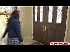 Virgin teen opens her backdoor so she stays a t...