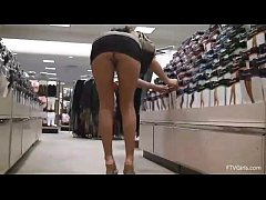 girl shows off her goods while shopping at the ...