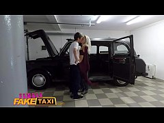 Female Fake Taxi Mechanic gives horny hot blond...