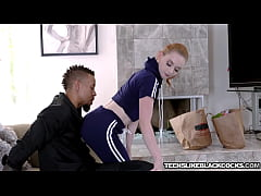 Cute babe Athena Rayne simply adores big black ...