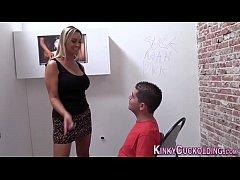 Kinky cuckolder spunked