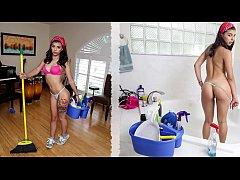 BANGBROS - Cute Brazilian Maid Gina Valentina F...