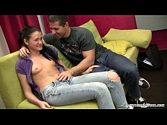 Brunette teen Kitty gets banged