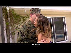 Asian StepMom Christy Love Gives Her Soldier St...