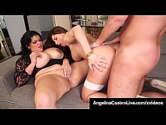 Cuban BBW Angelina Castro Has Threesome With Ro...