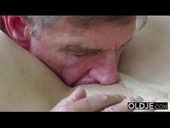 Old Young Porn Teen Blowjob Deepthroat and Cums...