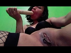 me masturbating and playing with a dildo
