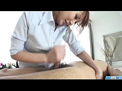 Massage goes nasty for big tits JapaneseAnna M...