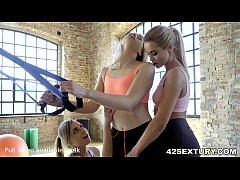 Sexy Gym Girls on a fierce Threesome - Cherry K...