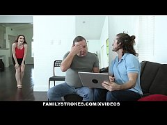 FamilyStrokes - Jerk Stepbro Pounds Stepsis Tig...