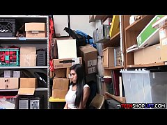 Asian teen amateur caught shoplifting and is in...