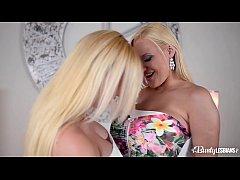 Busty lesbians Kyra Hot & Dolly Fox lick their ...